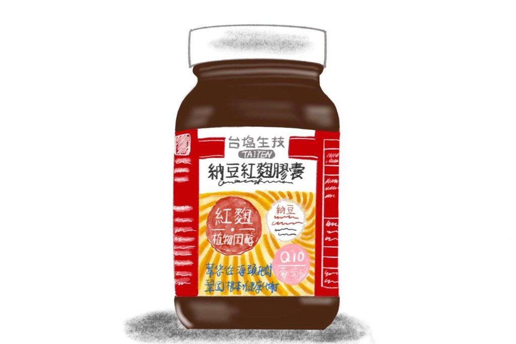 台鹽納豆紅麴膠囊