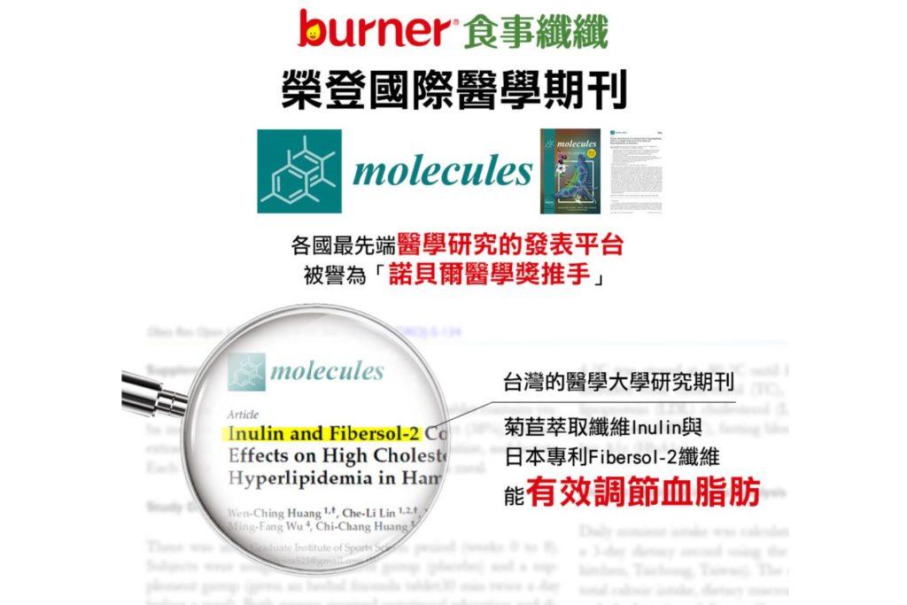 船井食事纖纖榮登Molecules瑞士國際醫學期刊