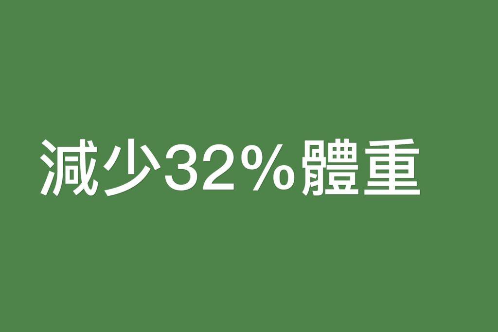 減少32%體重